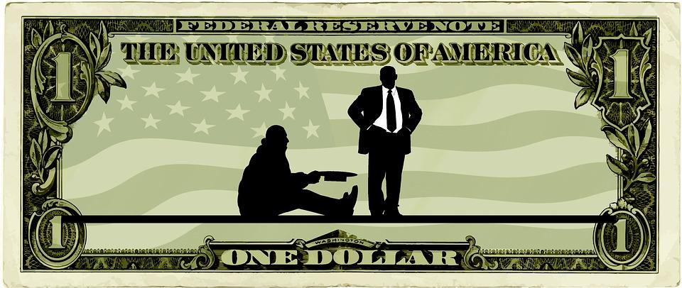 dolar a žebrák
