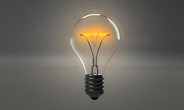 světlo v žárovce