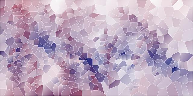 fialová mozaika